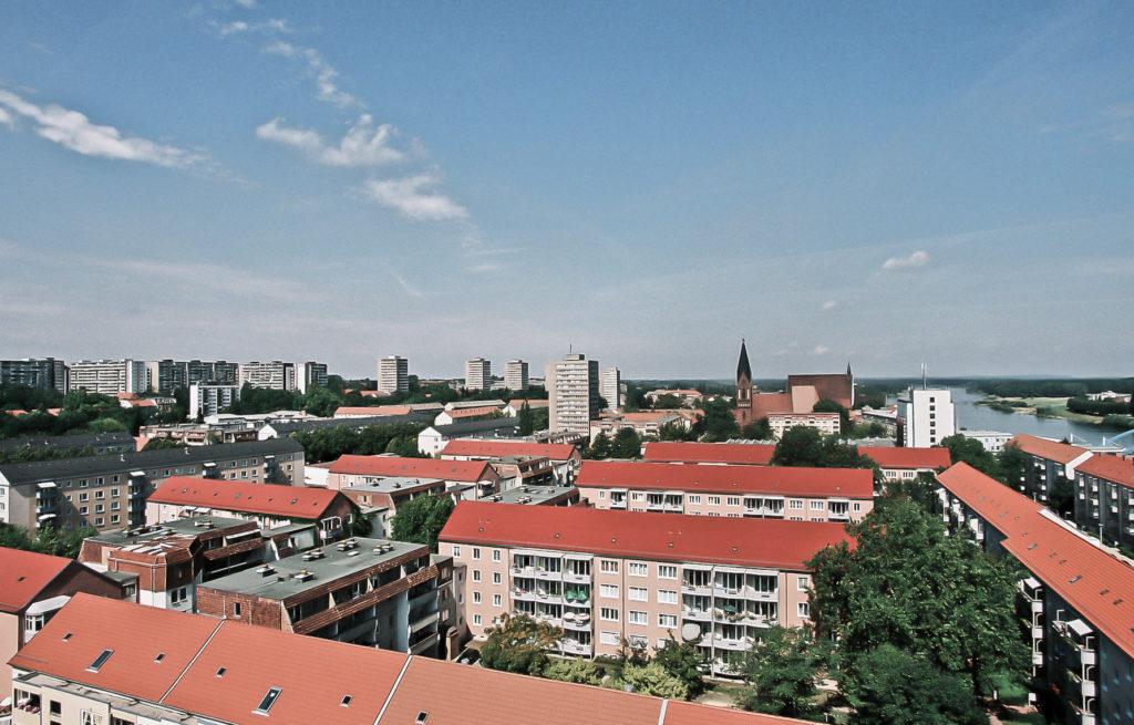 Nördliche Innenstadt vom Rathausdach