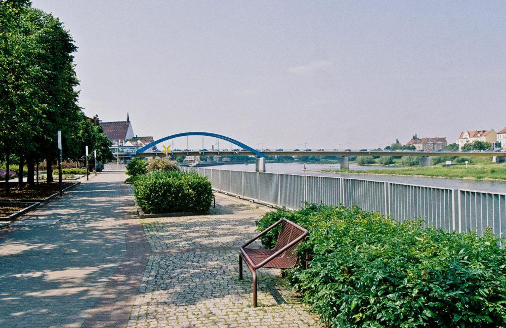 Oderpromenade und Oderbrücke